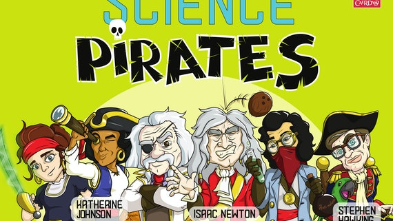 Famous scientists dressed as pirates