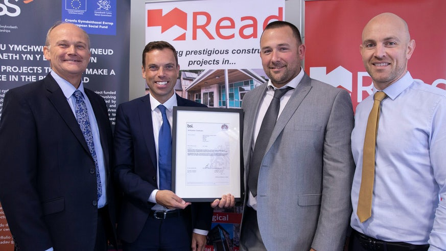 Read Construction accepting BIM ISO Award
