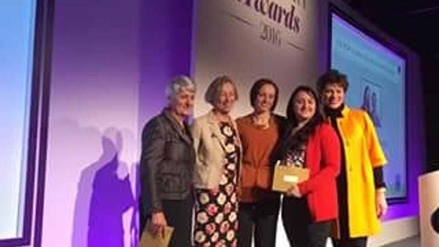 Cardiff University Midwifery Society at the RCM Awards in London