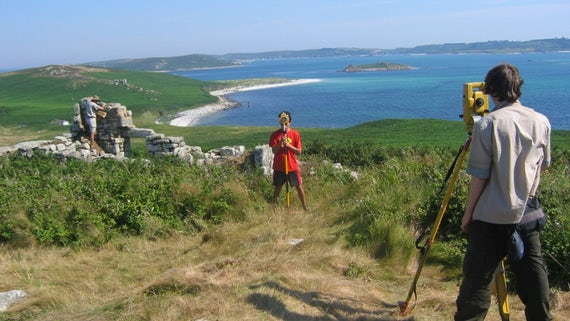 Research underway in the Scilly Isles.