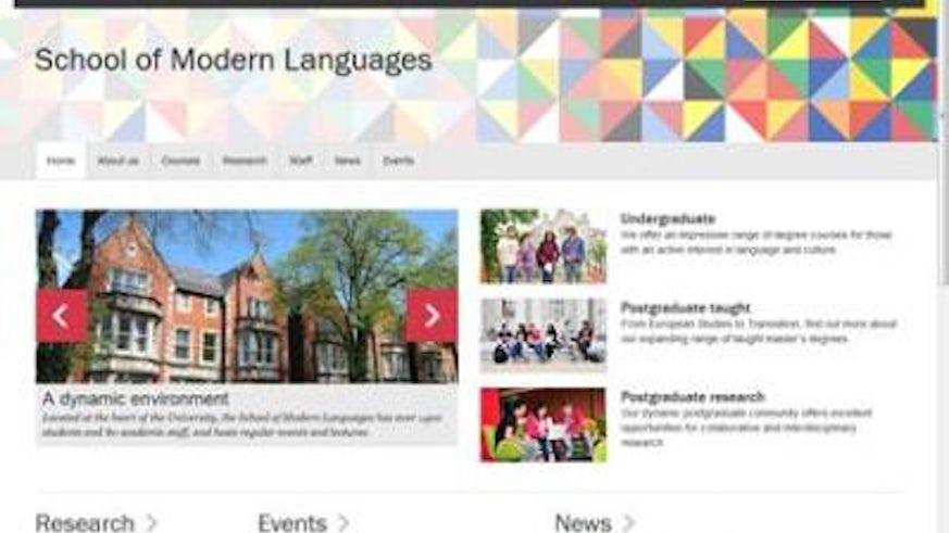 Modern Languages site screenshot