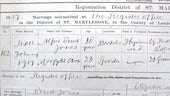Morfydd Owen's marriage certificate