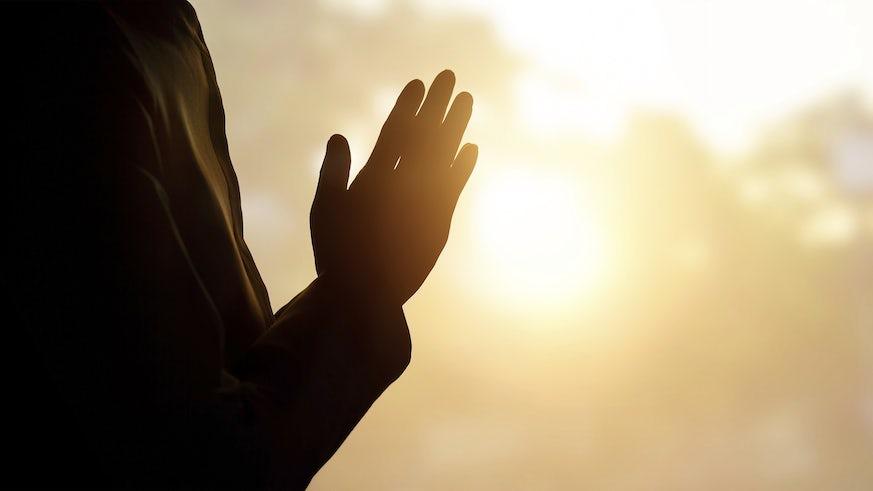 Prayer against sunset