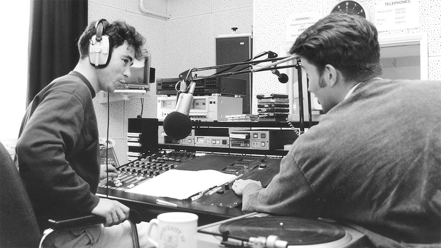 Cardiff Journalism students in 1990