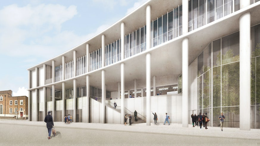 Centre for Student Life front elevation architect visuals