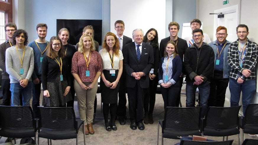 Students with Lord Elis Thomas