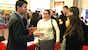 View image of Professor Philip Davies with students at Careers Science Fair