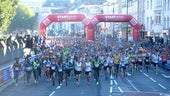 Cardiff Half Marathon  - Starting line