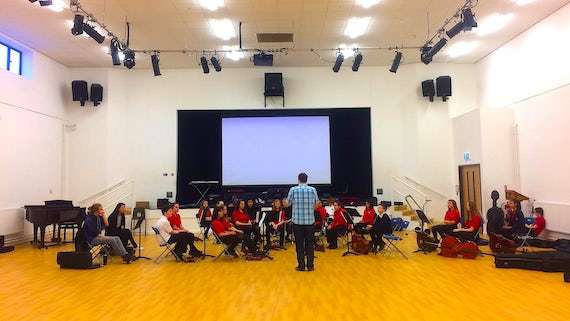 Dr Daniel Bickerton Cardiff High String Orchestra Workshop