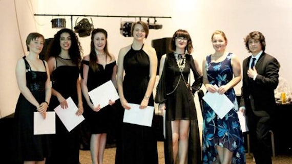 Some of the award winners at the Chaos Ball.