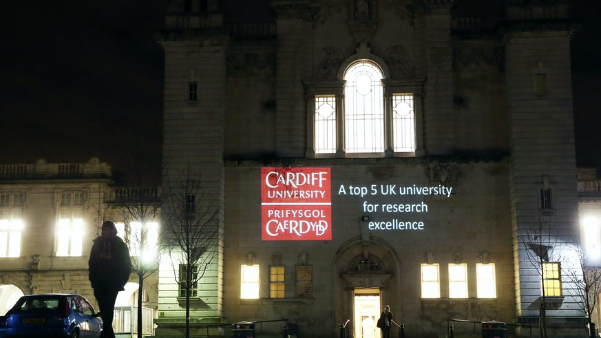 REF projection onto Main Building