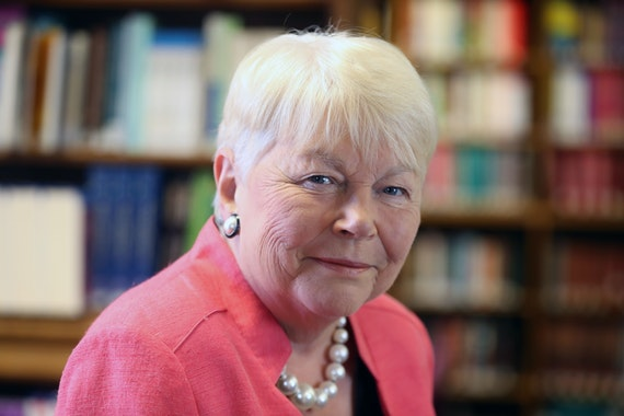 Baroness Randerson in library