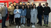 MSc LOM students on industry visit