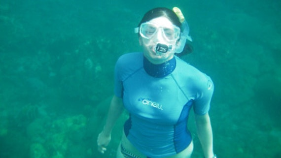 Student snorkelling