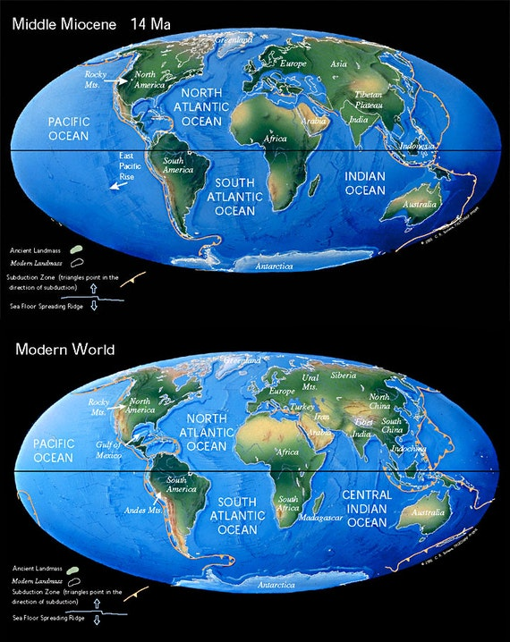 Miocene World Map.Ocean Carbon Cycling Since The Middle Miocene Testing The Metabolic