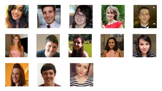 Grid of images of our student bloggers