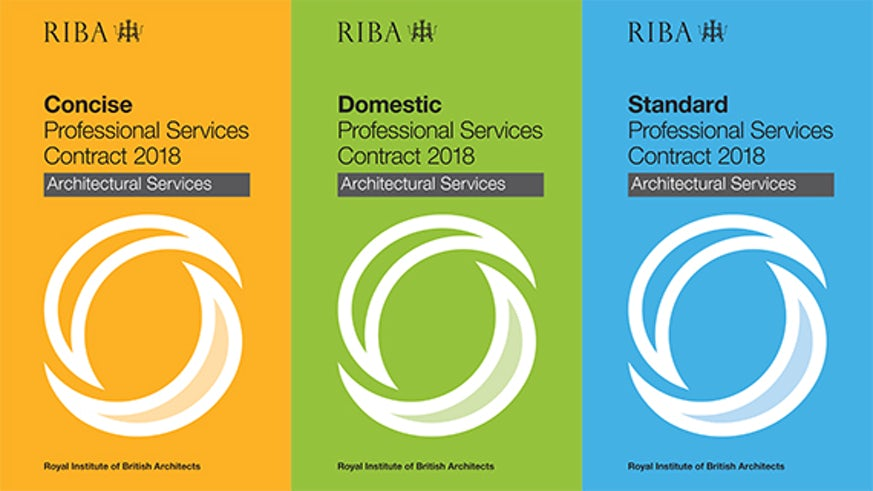 Front covers of RIBA Contracts documentation