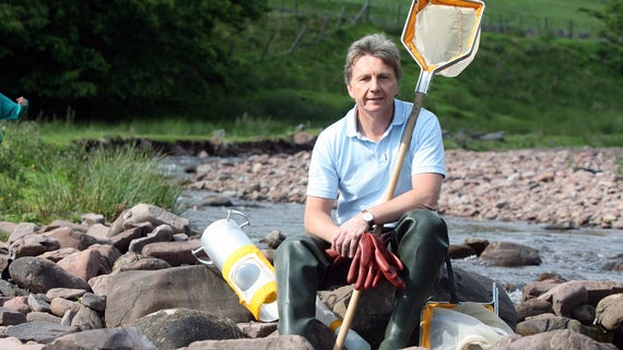 Image of Steve Ormerod sat by a river