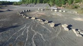 Fossil forest in a sandstone quarry in Cairo, New York