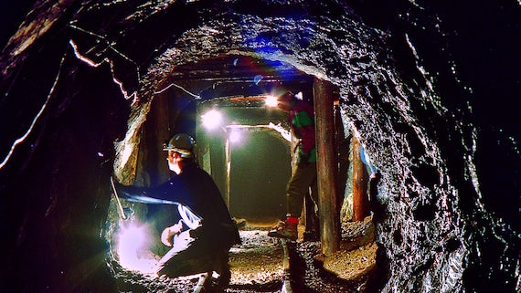 Exploration Geology fieldwork in Dolaucothi Gold Mine