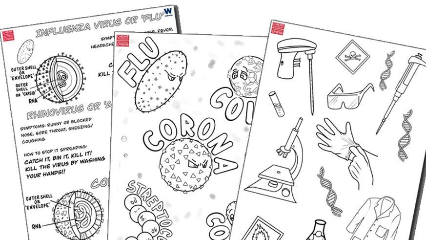 Colouring worksheets