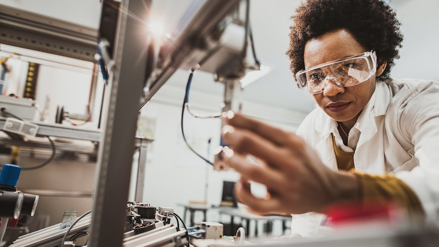 Person working in a lab stock image
