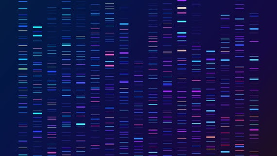 Stock image of genomics