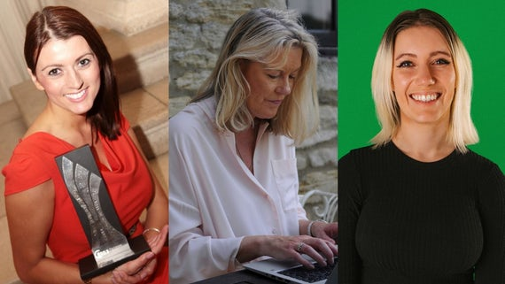 Collage of three women