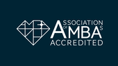 AMBA logo on navy background