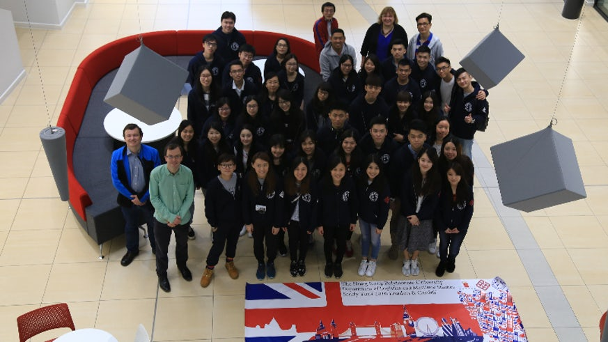Image of students from Hong Kong Polytechnic University's Global Supply Chain Management programme