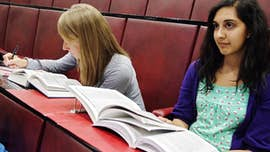 Law students attending a lecture.