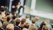 Blurred image of lecture