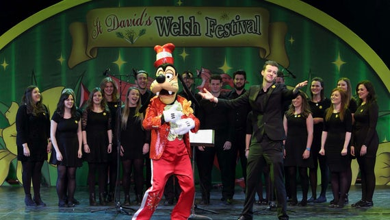 St David's Day celebration in Disneyland Paris