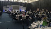 An image showing Preparation for the Awards Ceremony at the SWALEC Stadium (courtesy of NIACE Cymru)