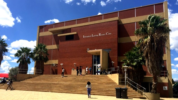 View of the University of Namibia Information and Learning Resource Centre