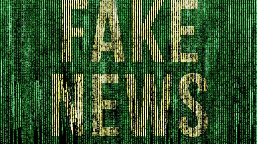 'Fake News' written in code