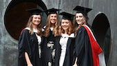 Cardiff University School of Music students at graduation