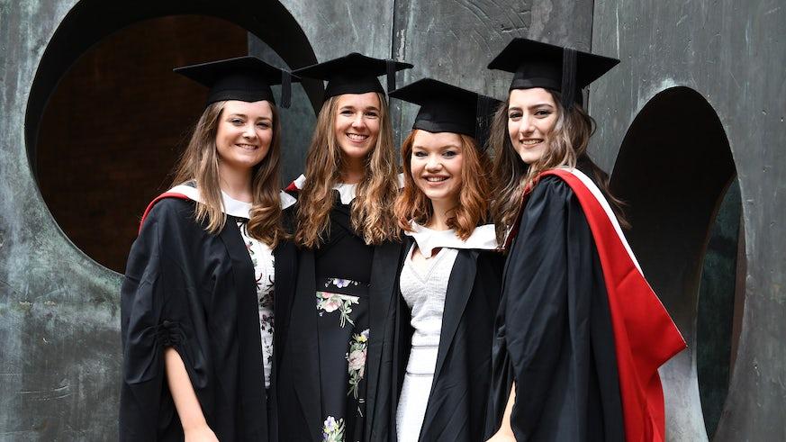 Cardiff University School of Music students at graduation