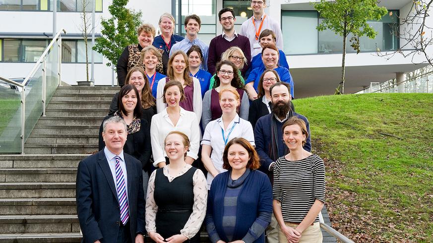Photograph of the neurology team