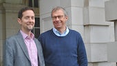 Picture of Professor Simon Ward and Professor John Atack