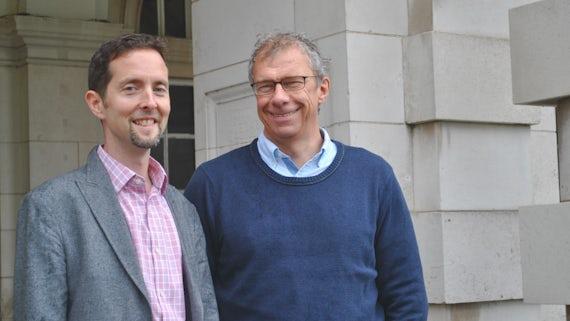 Picture of Professor Simon Ward and Professor John Atack