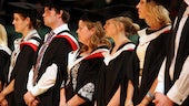 Image of graduates in St David's Hall