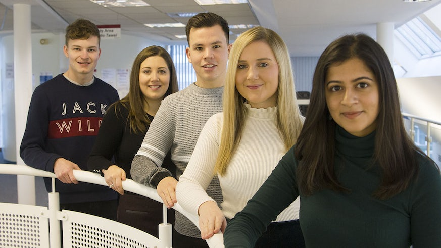 Anu Manda, Emilie Archer, Kieron Wilcox, Megan Walton and Harry Sawyer who have all secured training contracts.