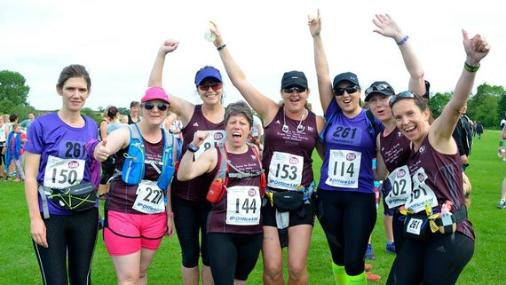 Women at the Women Can Marathon Devon