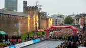 Cardiff Half Marathon 2017 start line