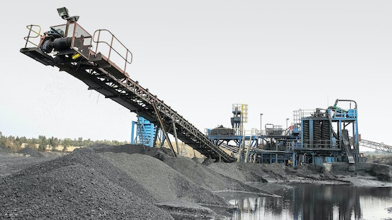 Coal mining plant in South Africa