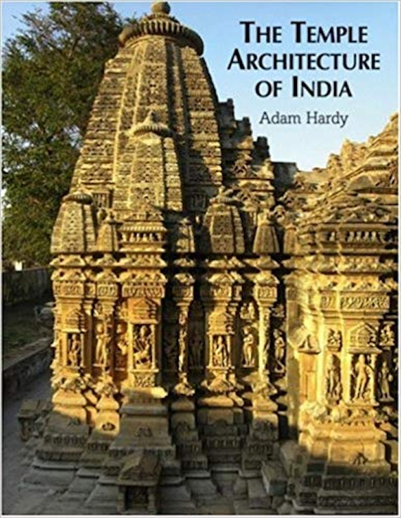A book cover showing a light coloured stone temple in India.