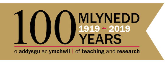 100 years of Cardiff School of Pharmacy logo