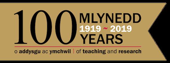 100 years of Cardiff School of Pharmacy logo
