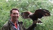 Dr Rhys Jones with an eagle